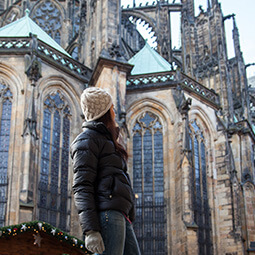 cathedral girl looking travel real social UGC photography