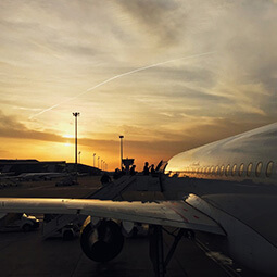 plane sunset wings real UG travel content photography